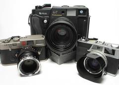Rangefinders (Narsuitus) Tags: fuji fujinon 90mm 35mm 40mm zeiss zm canon canonet 6x7cm gl17 rangefinder film gw670 m6 leica