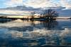 Winter Blues... (deanspic) Tags: 12017 sunset blue reflection guindonpark stlawrenceriver island g3x wintercanoeing vfmc