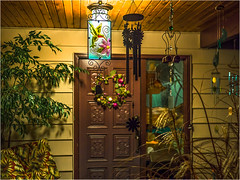 Wind chimes - 2016 (Patricia Colleen) Tags: windchimes myfrontdoor tsawwassen delta hummingbird