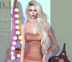 """=DeLa*= new hair """"Estelle"""" (=DeLa*=) Tags: dela hair fitted rigged mesh materials secondlife secondlifefashion sl slhair style uber new"""