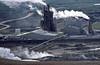 Krafla geothermal plant, Iceland (SteveInLeighton's Photos) Tags: kodachrome transparency iceland 1984 july steam geothermal powerplant myvatn
