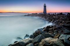 Walton Lighthouse sunrise (dhc_photos) Tags: lighthouse water ocean ndfilter sunrise santacruz surf longexposure