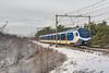 Wolfheze NSR FLIRT 2517 als Sprinter 7537 Arnhem Centraal (Rob Dammers) Tags: trein sneeuw winter nederland ns