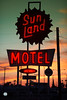 Far From Me (Thomas Hawk) Tags: arizona mesa sunlandmotel usa unitedstates unitedstatesofamerica motel neon sunset fav10 fav25 fav50 fav100