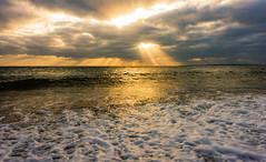 Mystical light (Anthony White) Tags: dscrx100m3 seascape winter sunlight clouds light sun nature sky natur vibrant crashingwaves dorsetuk dorset waves beach unitedkingdom bournemouth england gb