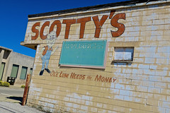 Scotty's Appliances, Bedford, IN (Robby Virus) Tags: bedford indiana in scottys appliances ole lum needs money ad advertisement ghost sign signage store business closed