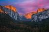 Yosemite & Sunset (Luís Henrique Boucault) Tags: architecture nature sunset sunrise usa unitedstates amerca california landscape nationalparks northamerica rocks sky sunlight travel vacation waterfalls yosemite