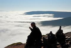Morning Tea (Mark Salter.) Tags: breconbeacons cribin inversion tea cloud walking mountains