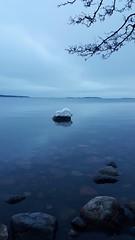 Horizon (Anne Susan Karine) Tags: silence calm peace stone rocks itämeri uutela särkkäniemi snowcovered lonelyrock horizon ocean outdoor fi balticsea