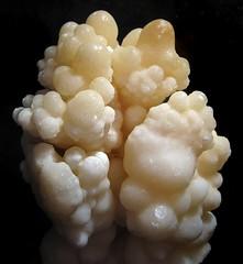 Cave Aragonite, From Morocco (Sea Moon) Tags: calcite stalactite formation mineral speleothem globular white specimen