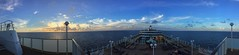 Panoramic Sunset at Sea (Thanks for over 2 million views!!) Tags: norwegiancruiseline norwegianjade panaramic panaroma panoramic pano iphonecamera iphonese chadsparkesphotography clouds caribbean caribbeansea water sky sunlight scenic sunset sun ship cruiseship cruise