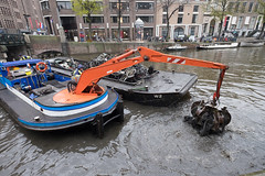 Holland_2016-3901_3Kp (David Julian ARTS) Tags: amsterdam 2016 dredging discarded bicycles