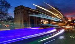 Ghosts of Marble Arch, London (Westhamwolf) Tags: marble arch london night trails evening lights england