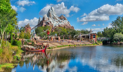 Adventuring On Everest! (Stuck in Customs) Tags: animalkingdom disneyworld florida orlando stuck customs stuckincustoms stuckincustomscom trey ratcliff treyratcliff travel blog travelblog hdr tutorial hdrtutorial imaging photography digital high dynamic range processing world north america unitedstates usa disney themepark park amusement family vacation resort downtown disneydistrict shopping dining entertainment experimental clouds december 2017 p2017 outdoor dailyphoto rr horizontal colour color everest sky lake mountain ride trees forrest reflection mirror sony ilce7rm2