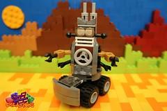 The Droid Family: Wheely (EVWEB) Tags: lego creations ideas robot mecha droid wheels gears mixels moc klinkers family