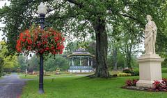 Park Life (Non Paratus) Tags: halifaxpublicgardens halifax novascotia chebuctopeninsula rain gardens canada canadianmaritimes atlanticcanada statue bandstand victorian gazebo