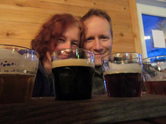 short visit to Persephone Brewing Company.. me and David.. (iwona_kellie) Tags: gibsons britishcolumbia canada chris conor visit friends persephonebrewingcompany beer food january 2017