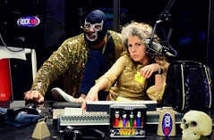 Doctor Porkchop and Miss Marynell announce Monster Truck Madness and a gratuitous Golden Child ass whooping on Rock 106 (Studio d'Xavier) Tags: werehere radio doctorporkchop drporkchop missmarynell rock106 monstertruckmadness luchador luchalibre 365 february112017 42365