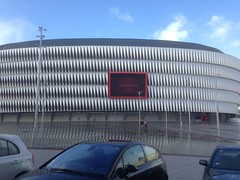 Colegio Mayor Peñafiel de Valladolid en el estadio de San Mamés (Colegio Mayor Peñafiel Valladolid) Tags: estadios fútbol san mamés athletic bilbao