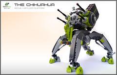The Chihuahua - DA2 - Mecha (Brixnspace) Tags: chihuahua fire lego tequila walker artillery flamethrower stomp barrage mecha napalm mech moc 4legged da2 foitsop tequilatron