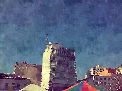 (Giovanne Ferreira) Tags: building paint circo circus painted bluesky cu colored prdio colorido