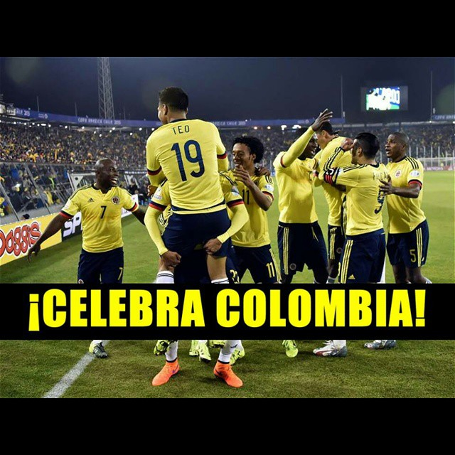 #CopaAMERICA #Chile #Colombia #Brasil  #Colombia  #Futbol  #JamesCrack  #UnidosPorUnPais  #SeleccionColombia #FuerzaTricolor #VamosColombia  @camilozuniga18 @jamesrodriguez10 @FALCAO @D_Ospina1 @Aldoleao81 @PabloArmero27  @SanchezCarlosA @carlos7bacca @lu