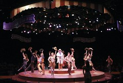 Ron Wisniski (center) and the cast of in Annie Get Your Gun at Music Circus August 9-14. Photo by Charr Crail.