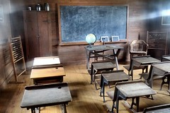 Old School Classroom (Mr Imperfection) Tags: old school museum mississippi forestry jackson class agriculture chalkboard desks