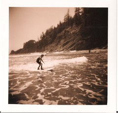 Learning to Surf (Joel Evans) Tags: holga hp toycamera surfing tmax100 shortsands c4400