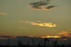 Varna - Sunset over the Port (lyura183) Tags: sea port cranes bulgaria blacksea varna българия черноморе варна