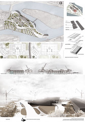 Milena Murganic, Master plan for Szczecin Islands, concept design for Cultural centre, Szczecin, 2014.