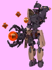 Revotain [Mage] 4 (Folisk) Tags: lego moc ldd digital designer bionicle hero factory ccbs technic pov nova scepter pose