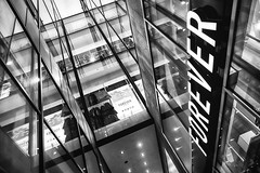Forever 21 @ Amsterdam (PaulHoo) Tags: forever 21 shopping brand store fashion clothes architecture building lines text glass steel bw blackandwhite monochrome 2016 amsterdam holland netherlands fujifilm fuji x70