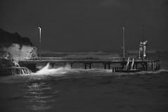 Port Campbell Great Ocean Rd VIC (andrewdavis15) Tags: earlymorning roughocean docks sea blackandwhite greatoceanroad whalf portcampbell ocean pier