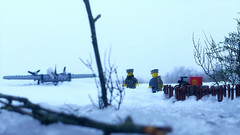 Out of the woods... (Rebla) Tags: out woods sky ww2 wwii world war ii lego snow scene outside rebla bf 110 messerschmitt