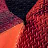 convergence void (MyArtistSoul) Tags: ventura ca red orange magenta diamondplate metal steel flatbed trailer fender weld rust raggedy hole converge radiate dramatic sidelight shadows pattern minimal abstract square 3957