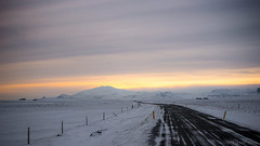 Dreams come slow and they go so fast (OR_U) Tags: 2017 oru iceland ice snow snaefelsnes road street winter cold sunset 169 widescreen mountains fence