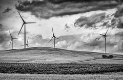 perfect conditions (seasonsinspirit) Tags: windpower windmill sky spain field storm wind