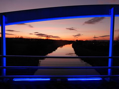 The Blue Bridge (Forth & Clyde Canal) at sunset (luckypenguin) Tags: scotland falkirk forth clyde canal sunset grangemouth bridge
