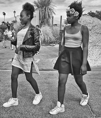 """London girls (bidkev1 and son (see profile)) Tags: buystreetphotography streetphotography street documentaryphotography urbanphotography cityphotography beachphotographypeoplephotographyphotojournalism""""candi kevindickinsonfineartphotography""""""""canonphotography beachphotographypeoplephotographyphotojournalism""""candidphotography kevindickinsonfineartphotography""""""""canonphotography""""monochrome girls afro"""