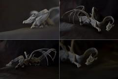 Spine Dragon by Daniel Brown (Nikita Vasiliev) Tags: origami paper paperart dragon spinedragon danielbrown bones horns wings undead