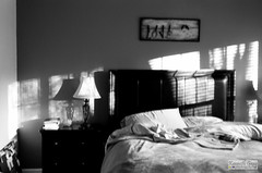 blurred lines.. (35mm film) (Ken B Gray) Tags: bedroom mono bw blackandwhite lowkey love analog film tmax100 kodak f3 nikon ambient sunrise morning newday light positivity hope noiretblanc