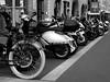 Motorradsammlung / Motorcycle collection (ingrid eulenfan) Tags: leipzig motorrad motorcycle motorbike moped fahrrad reihe sammlung zweirad bicycle bike schwarzweiss schw blackandwhite motorradsammlung motorcyclecollection motorroller