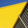 Metal on Metal on Nature (Andrea Kennard) Tags: industrial metal warehouse construction architecture blue business background industry wall new modern building sky iron storage structure abstract texture outdoors roof pattern facade factory exterior garage entrance commercial steel distribution roller shutter workplace property trading company cladding unit freight import yellow