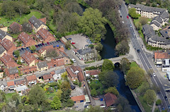 Built in 1340 - Bishops Bridge in Norwich - aerial (John D F) Tags: norwich bishopsbridge wensum river norfolk lollardspit aerial aerialphotography aerialimage aerialphotograph aerialimagesuk aerialview britainfromabove britainfromtheair viewfromplane droneview hirez hires highresolution