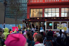Women's March San Francisco (Luca Iaconi-Stewart) Tags: protest march women feminism activism sanfrancisco marketstreet politicalaction resistance signs crowds liberal overcast rain clouds evening