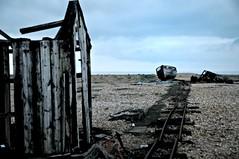 Dungeness Life  II (www.hot-gomez-fotografie.de) Tags: dungeness kent kentlife uk beach shale boat ruin relic rotting old fishing nikon