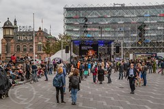 Copenhagen Sept 2016_2323 - Around and about City Hall Square - Rådhuspladsen - A music festival was taking place at the time (Mark Schofield @ JB Schofield) Tags: copenhagen denmark canals bridge opera house palace castle slot nyhavn boats christiansborg christiania architecture church tower dome paperworks tourism københavn rosenborg tivoli railway train station central track frederiksberg park gardens little mermaid statue christianshavn have zealand amager cycle cyclist transport new harbour parliament danish amalienborg kastallet pavement path street commute
