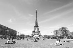 / paris / (aubreyrose) Tags: travel blackandwhite bw paris france monochrome spring europe eiffeltower springtime parisinthespring
