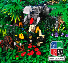 Welcome to the Jungle (aardwolf_83) Tags: sea castle monster marine king ranger ship dragon lego dinosaur explore jungle chase lands exploration lor discovery abner scraff roawia lenfald
